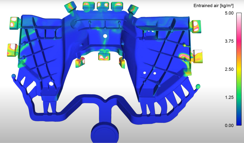 Air Entrainment During Filling   High Pressure Die Casting