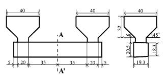 Fig. 1 Casting design of bending test specimens