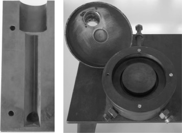 Fig. 3. Dies of the example structures used in gravity casting.