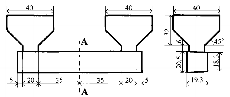 Fig.1 Schematic drawing of mold design.
