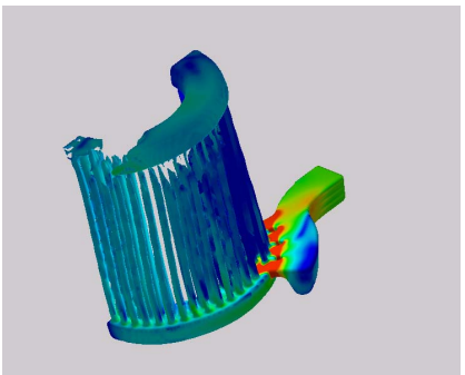 Figure 11 – Ejector End Ring in the 20% Pre-fill Simulation.