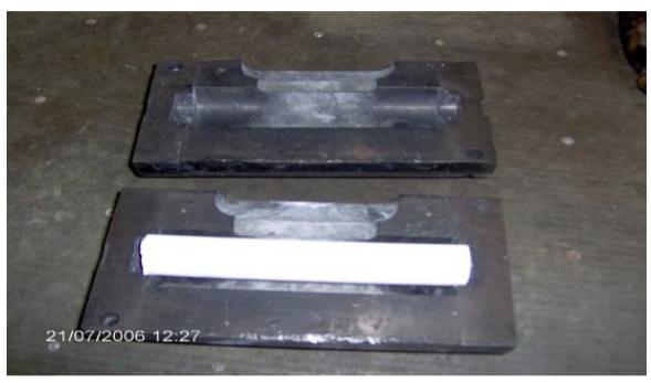 Figure 12. Cast iron split moulds with core