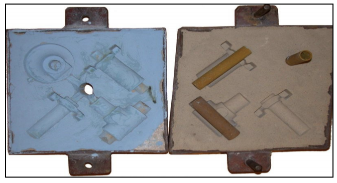 Figure 7. Sand casting with sand cores (59)