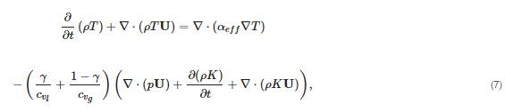 This is a new unknown in the system and needs to be solved for via the heat equation